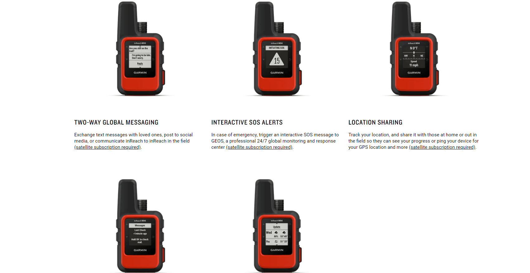 Rugged SA Garmin inReach Mini Handheld GPS