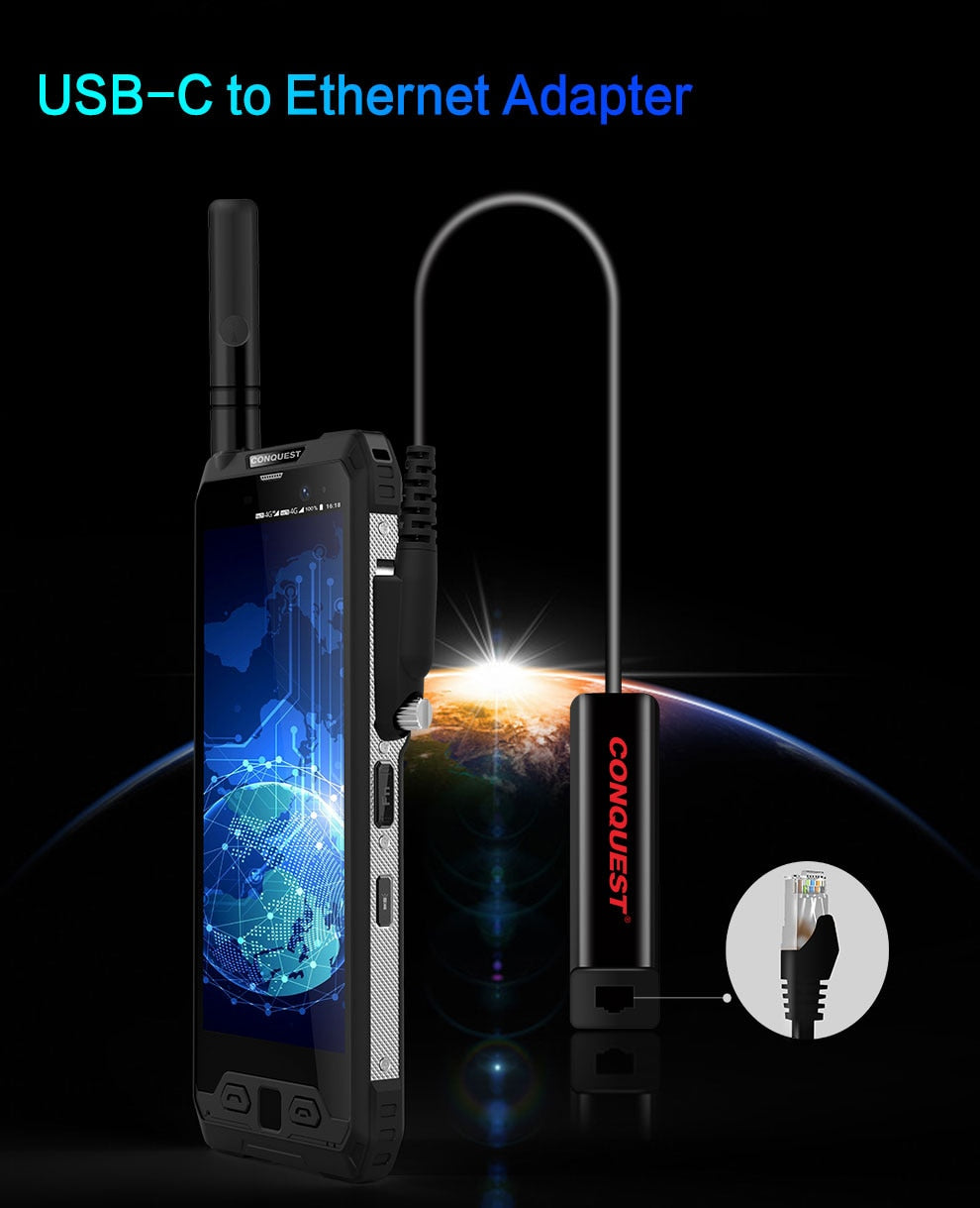 Rugged SA - Conquest S19  IP68 Android Rugged Smartphone - 6GB RAM, 128GB