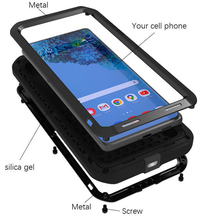 Rugged SA R-Just 360 Tank Armor Case for Samsung Galaxy S21 Ultra
