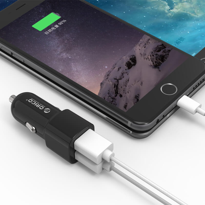 Rugged SA Orico 2 Port 5V 2.4A Car Charger