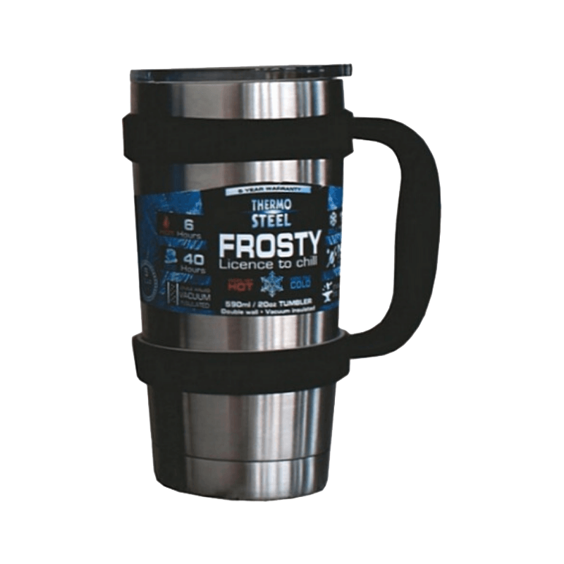 Rugged SA Thermosteel Frosty 590ml Vacuum Tumbler W/Handle