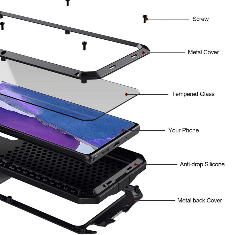 Rugged SA Tank Armor Case for Samsung Note 20
