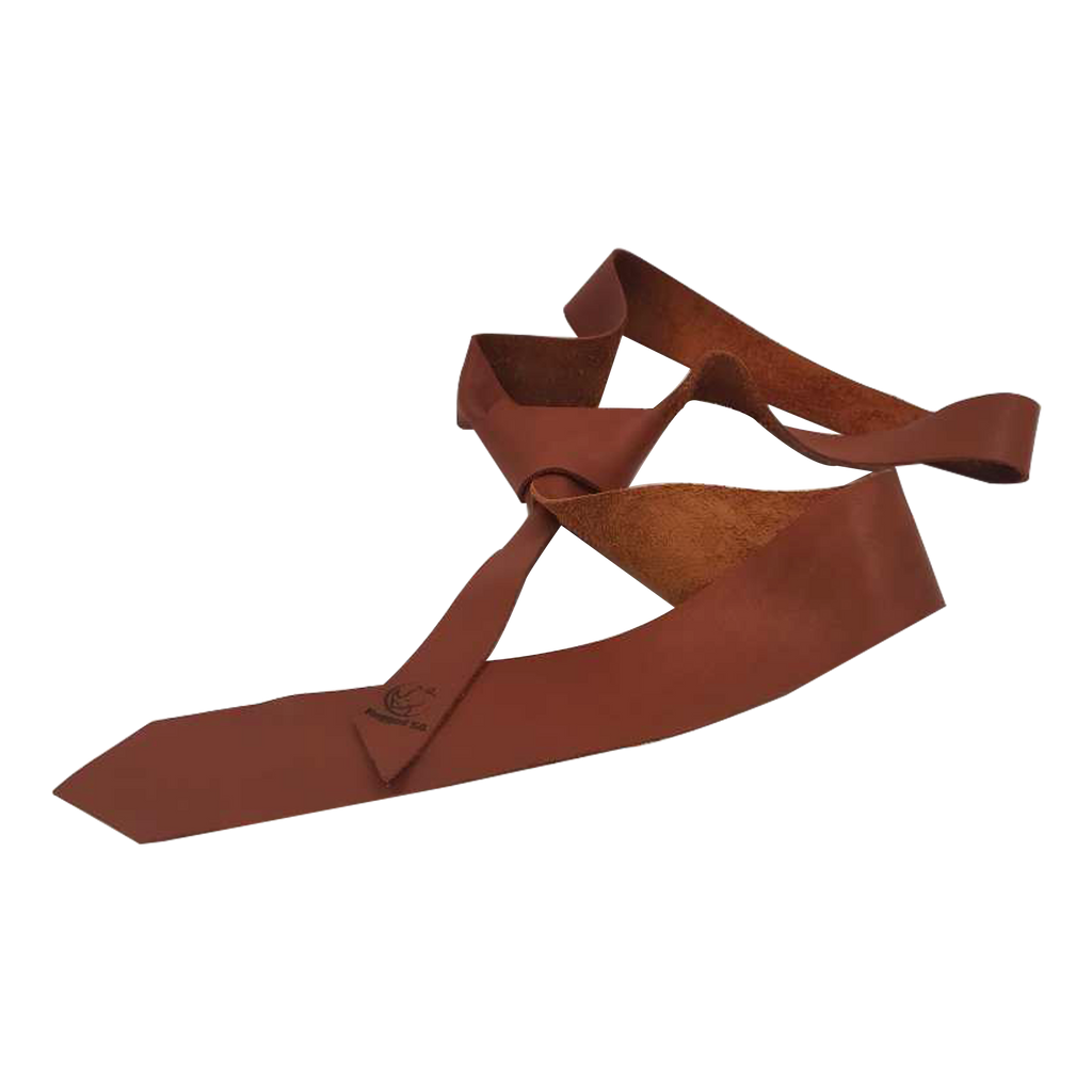 Chester Tabacco Skinny Leather Tie Rugged SA