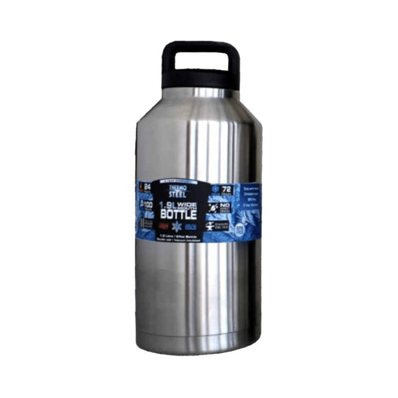 Rugged SA Thermosteel 1.9L Wide Mouth Vacuum Flask W/Handle