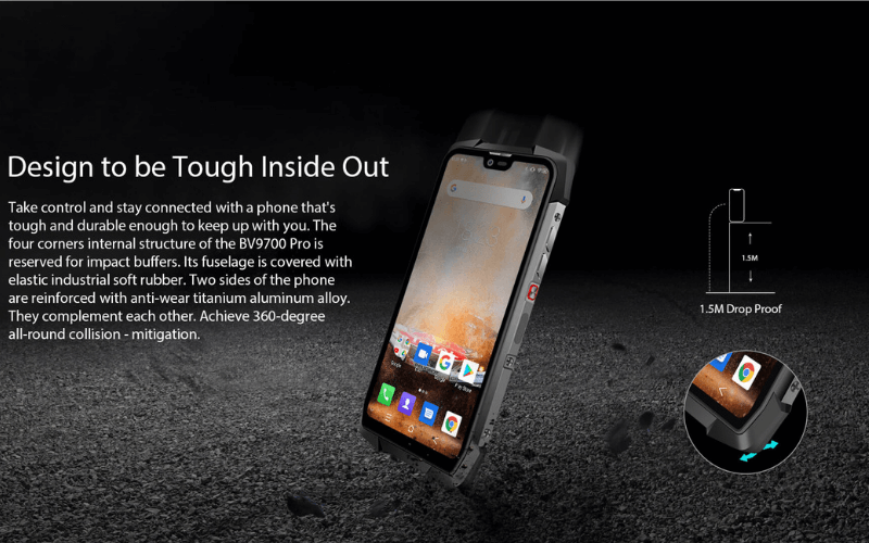 Rugged SA Blackview BV9700 Pro Rugged Phone