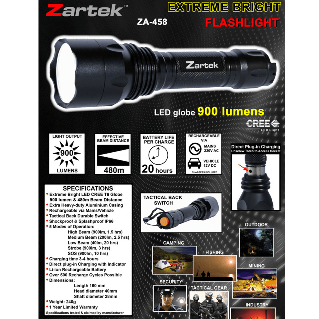 Rugged SA Zartek ZA-458 LED Torch
