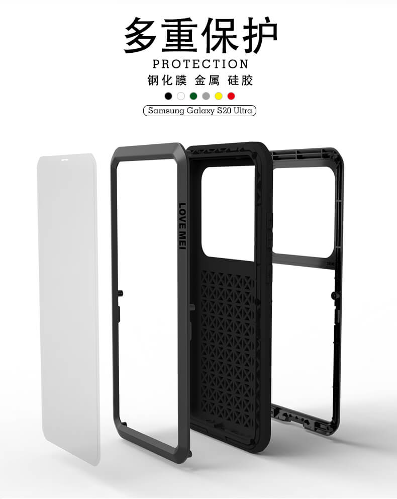 Rugged SA Love Mei Samsung S20 Ultra Rugged Cover