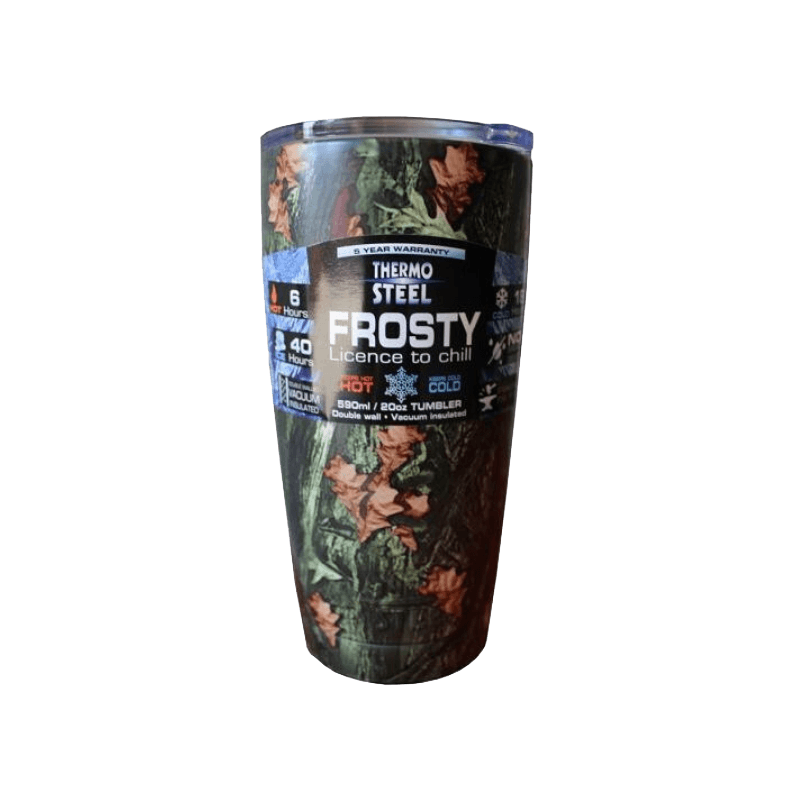 Rugged SA Thermosteel Camo Frosty 590ml Vacuum Tumbler No Handle