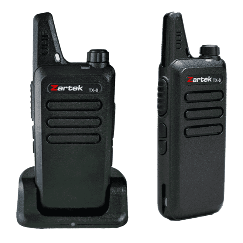 Zartek - TX-8 Ultra Thin & Compact Two-Way Radio Twin Pack