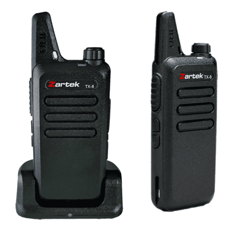 Zartek - TX-8 Ultra Thin & Compact Twin Pack Two-Way Radios