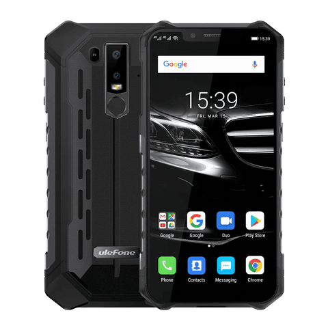UleFone Armor 6E Rugged Android 9.0 Smartphone - 4GB, 64GB, Dual-SIM, IP68 Black