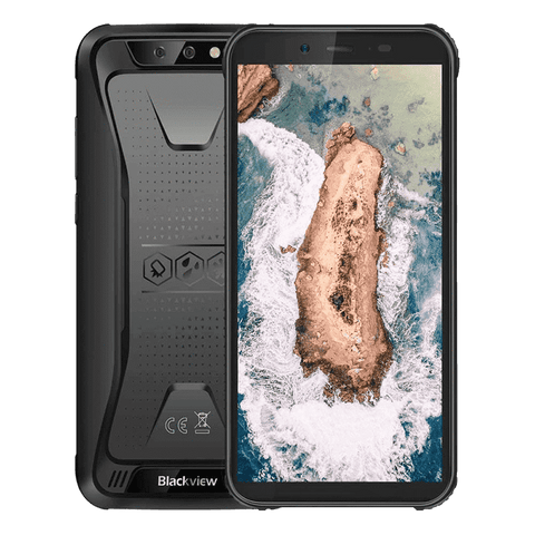 Blackview BV5500 Rugged Android 8.1 Smartphone - 2GB, 16GB, IP68, Dual-SIM Black