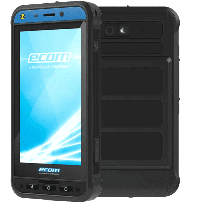 Intrinsically safe Android 9 smartphone: Smart-Ex® 02 for Zone 1 / Division 1 - Ex ib (zone 1)  IIC T4 Gb IP64 - Ex ib (zone 1)  IIIC T120°C Db