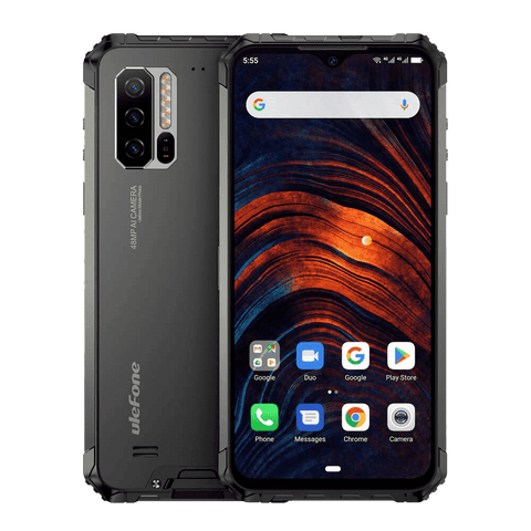 UleFone Armor 7 Rugged Android 9.0 Smartphone - 8GB, 128GB, Dual-SIM, IP68 Black