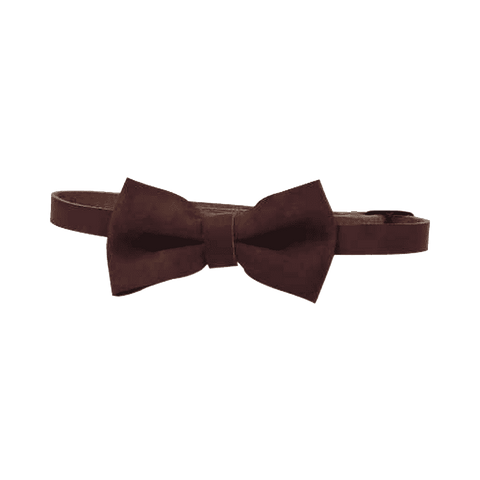 Pitstop Cigar Leather Bowtie - Mens