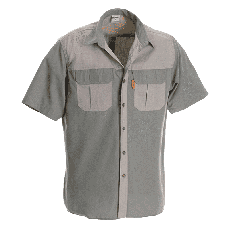 Rugged SA Hippo Short Sleeve Shirt - Olive/Khaki