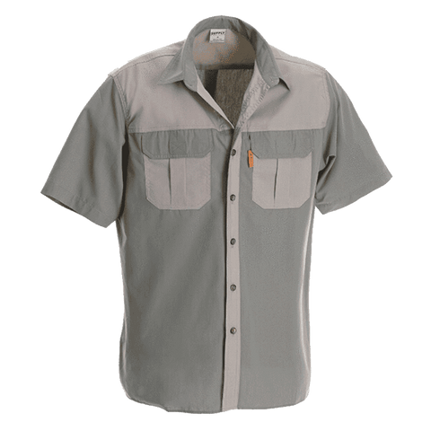 Rugged SA Hippo Short Sleeve Shirt - Khaki/Olive