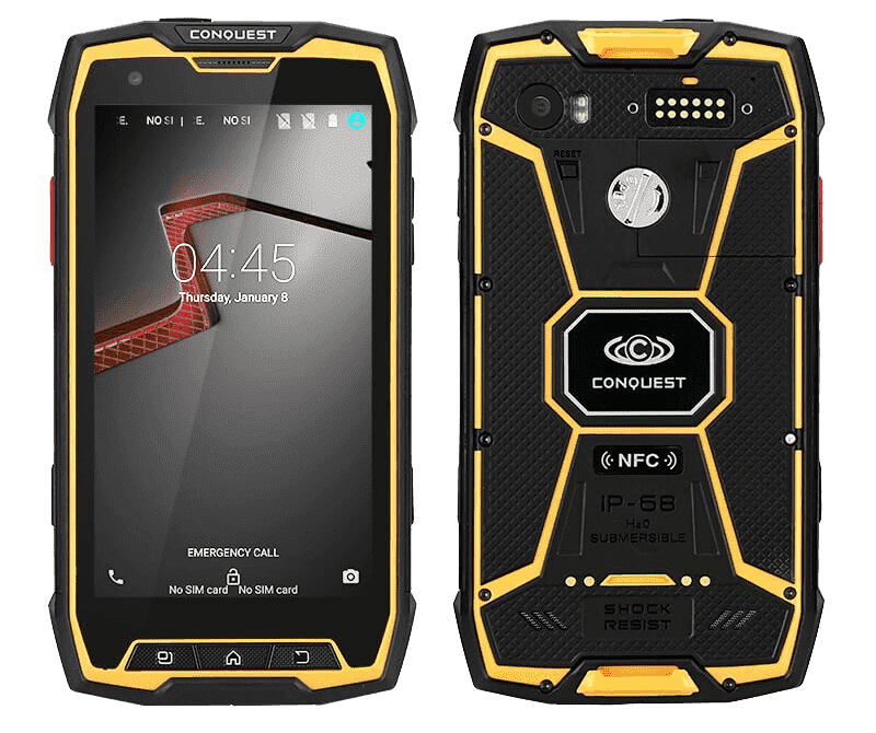 Conquest S9 IP68 Android Rugged Smartphone - 2GB RAM, 32GB