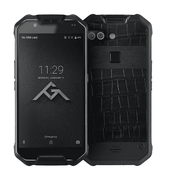 AGM X2 SE Rugged Android 7.1 Smartphone - 6GB, 64GB, IP68, Dual-Sim Black / Leather