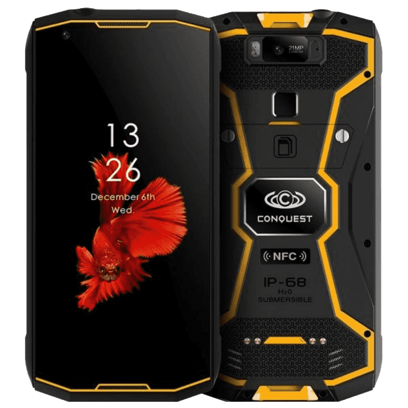 Intrinsically Safe - RuggEX Conquest S12 Pro IP68 Android 9 Rugged Smartphone - 6GB RAM, 128GB ROM, Zone 1 Certified