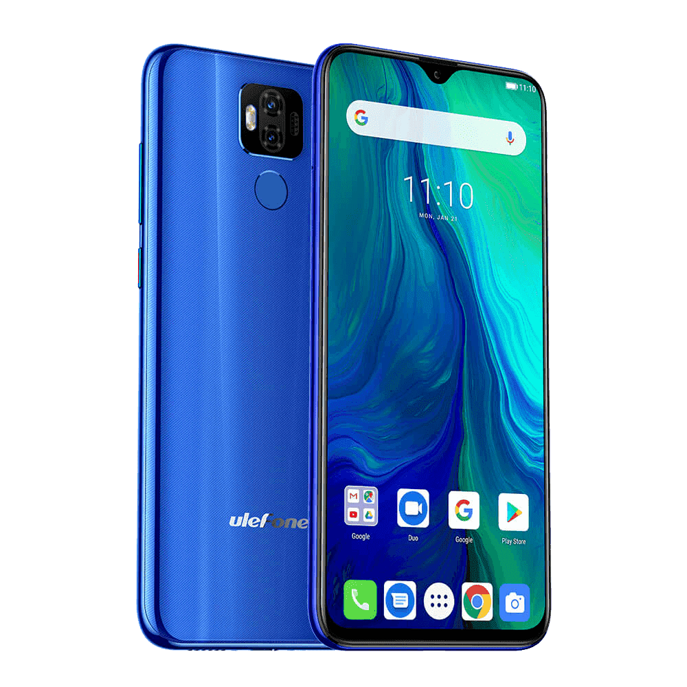 Ulefone Power 6 Android 9.0 Smartphone - 4GB, 64GB, Dual-SIM, Face-ID