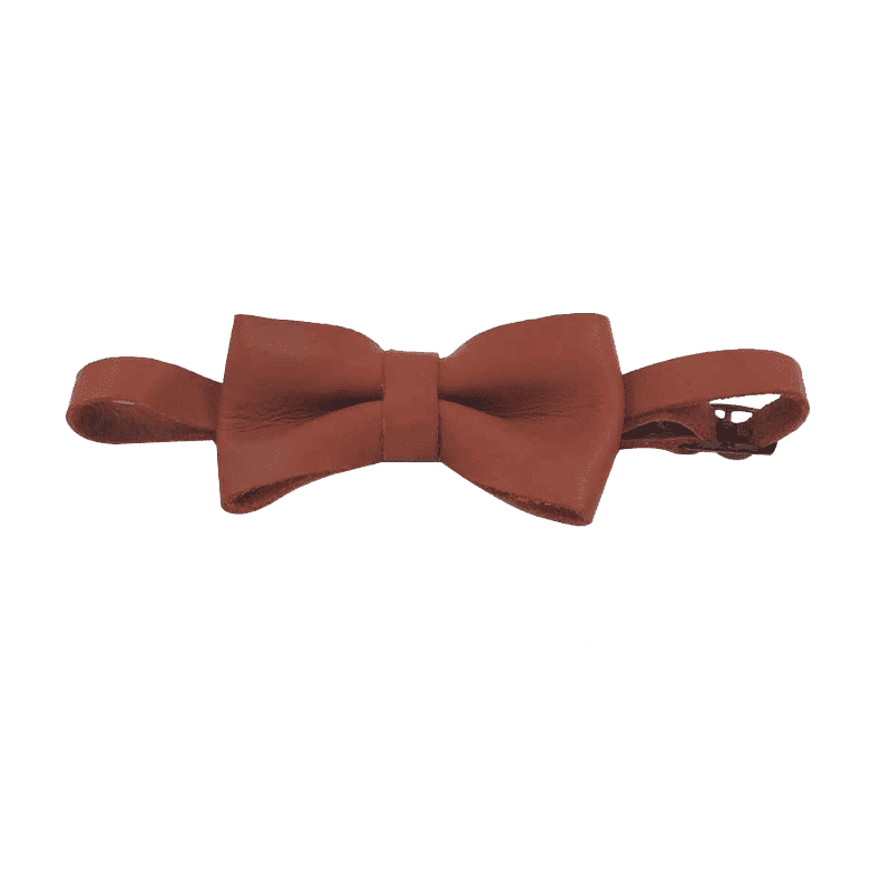 Chester Tabacco Leather Bowtie - Boys