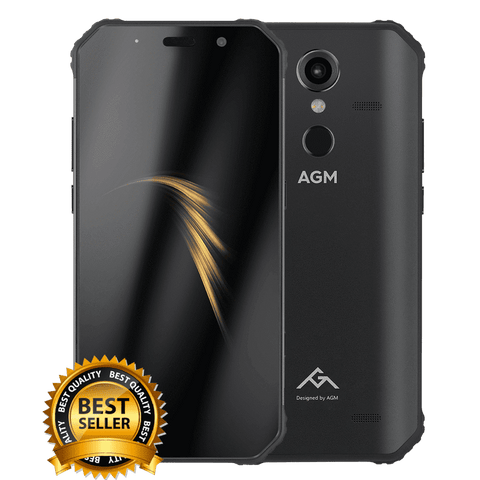 AGM A9 Rugged Android 8.1 Smartphone - 3GB, 32GB, IP68, Snapdragon CPU, Dual-Sim
