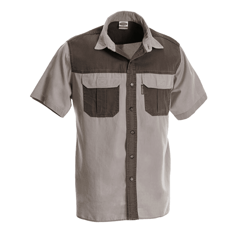 Rugged SA Wag 'n Bietjie Short Sleeve Shirt - Stone/Military