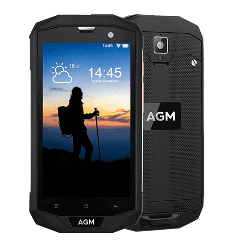 AGM A8 Pro Rugged Android 7.1 Smartphone - 4GB, 64GB, IP68, Snapdragon CPU, Dual-Sim Black