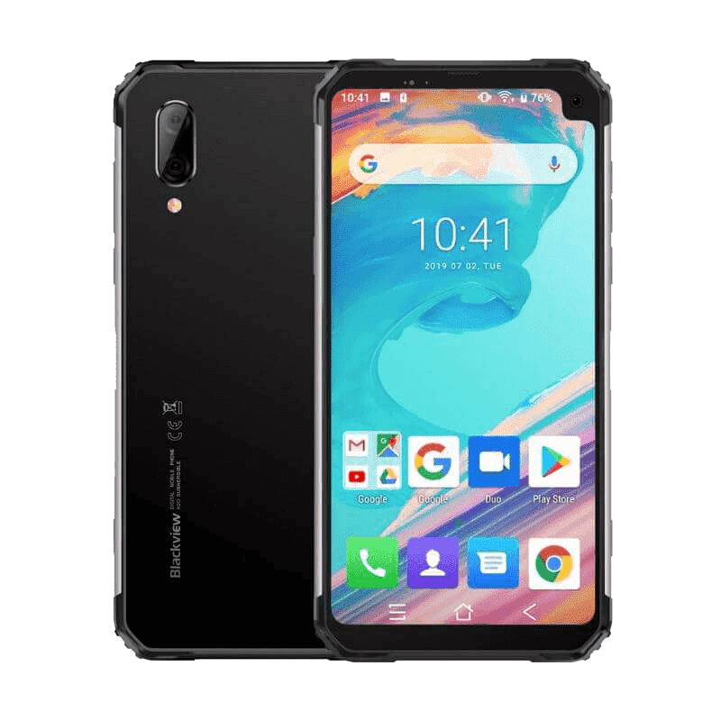 Blackview BV6100 Rugged Android 9.0 Smartphone - 3GB, 16GB, IP68, Dual-SIM Grey