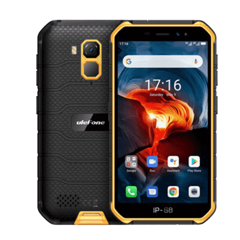UleFone Armor X7 Rugged Android 10.0 Smartphone - 2GB, 16GB, Hybrid Dual-SIM, IP68 Orange