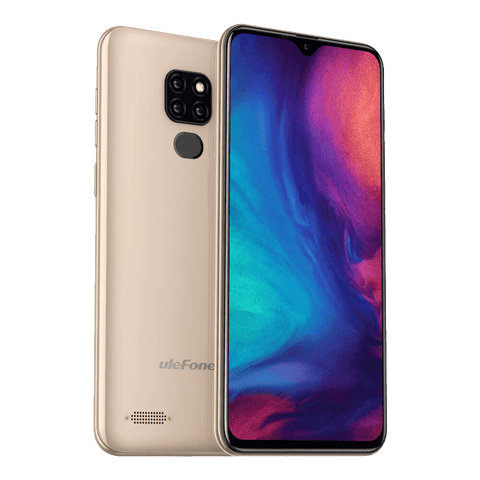 Ulefone Note 7P Android 9.0 Smartphone - 3GB, 32GB, Dual-SIM, Face-ID Gold
