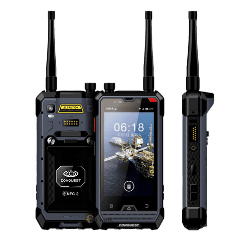 Conquest S1 IP68 Android Rugged Smartphone - 3GB RAM, 32GB, Triple-SIM