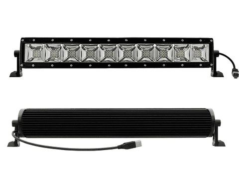 100W, 5600 Lm  - Rugged SA 10'' Dual Row Scene Light LED Bar, with brackets and harness + BLACK-OUT COVER