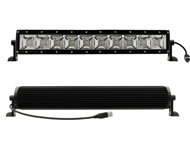 LED Lighting - AURORA 20'' Dual Row Scene Light LED Bar, 200W, With Brackets And Harness