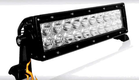 100W, 5600 Lm - Rugged SA D1 Series 10'' Dual Row LED Light Bar, Combination, with brackets and harness