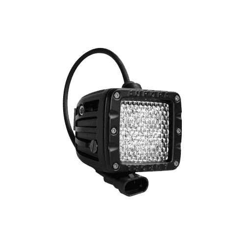 "40W, 3200 Lm - Rugged SA W series Double Row Cube 2"" Inch Diffusion IP69K Led off-road Light, with brackets and harness"