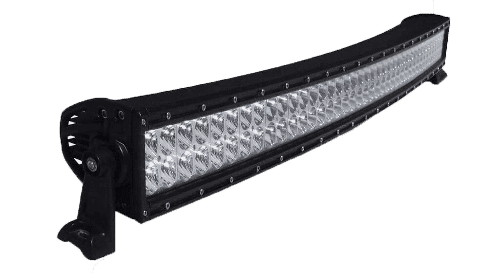 300W, 25680 Lm - Rugged SA 30'' Dual Row Curved Combination LED light Bar, with brackets and harness
