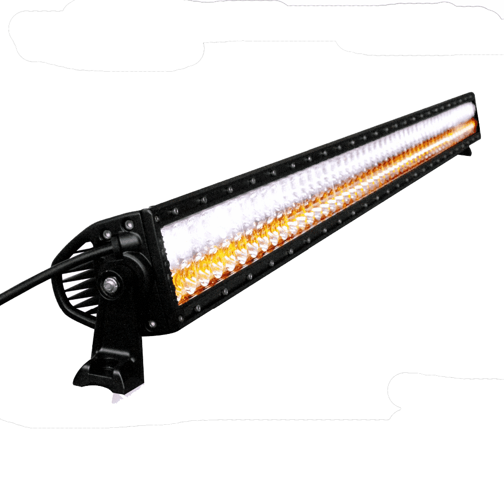 300W, 14400/21120Lm - Rugged SA 30'' Dual Row Multi Colour LED light Bar (White + Amber) , 300W, with brackets and harness + BLACK-OUT COVER