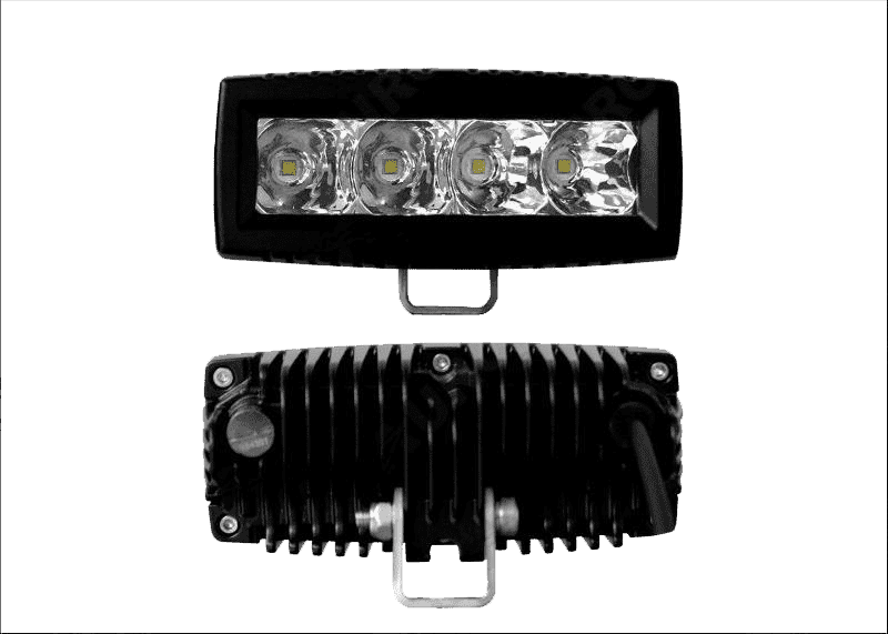 "20W, 2200 Lm - Rugged SA 4"" L-Series Single Row Off Road LED Light Bar Flood Beam"