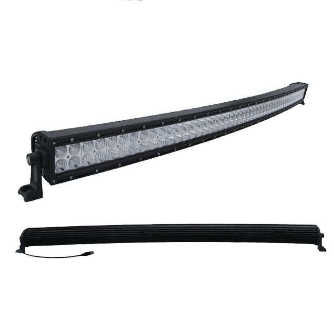 400W, 34240 Lm - Rugged SA 40'' Dual Row Curved Combination LED light Bar, with brackets and harness