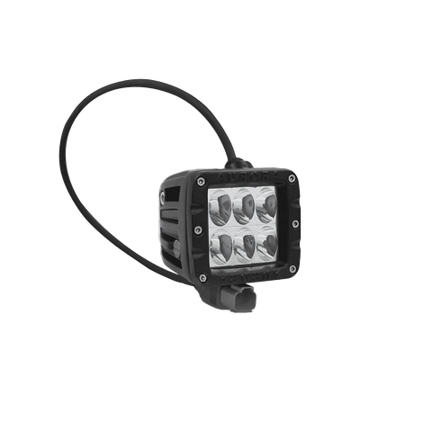 30W - Rugged SA W1 Series Double Row Cube Driving Beam Pattern Led off-road Light , with brackets and harness