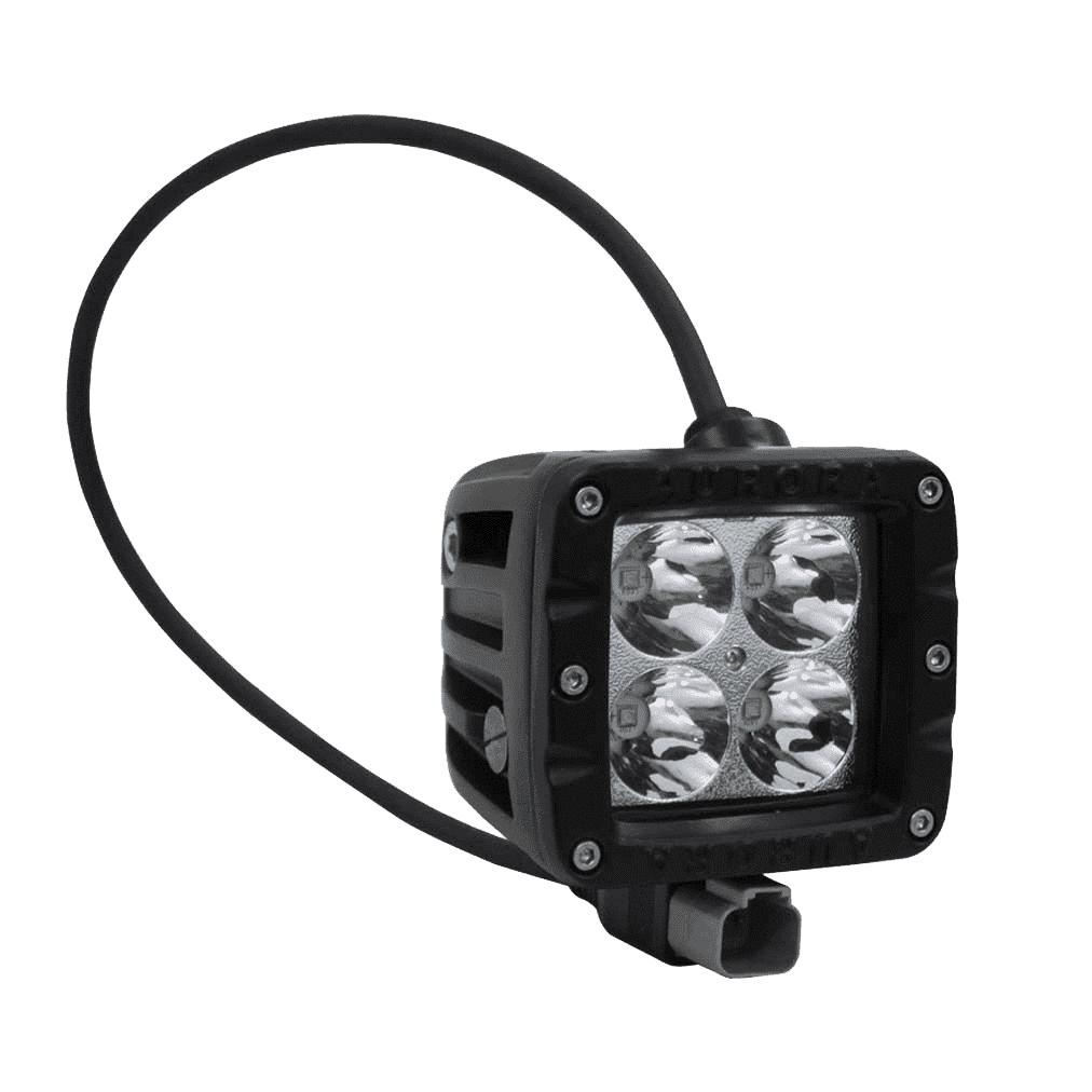 "40W, 3200 Lm - Rugged SA 2"" W1 Series Double Row Cube Flood Beam Pattern Led off-road Light , with brackets and harness"