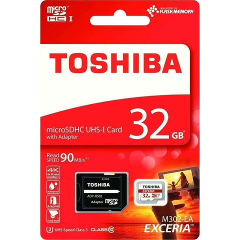 Toshiba EXCERIA 32GB Class 10 SD Card (4K Support)