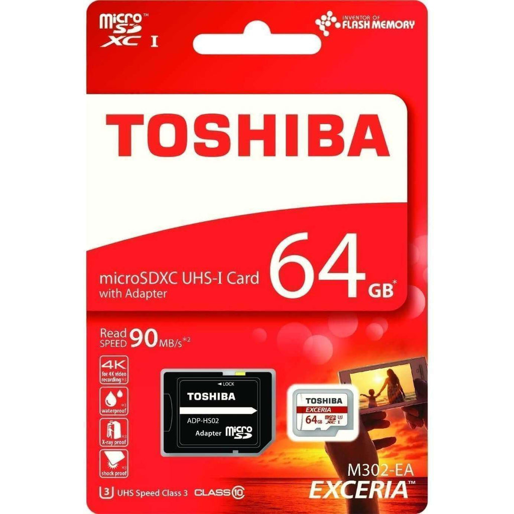 Memory Card - Toshiba EXCERIA 64GB SD Class 10 SD Card (4K Support)