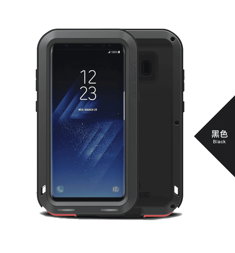 Rugged Cover - LOVE MEI POWERFUL Series Samsung S8+