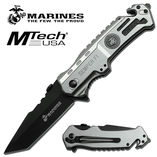 Rugged Knives - U.S. MARINES BY MTech SPRING ASSISTED KNIFE | M-A1002TP