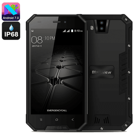 Rugged Phones - Blackview BV4000 PRO  Android 7.0 Smartphone - 16GB, 2GB RAM + FREE SD Card