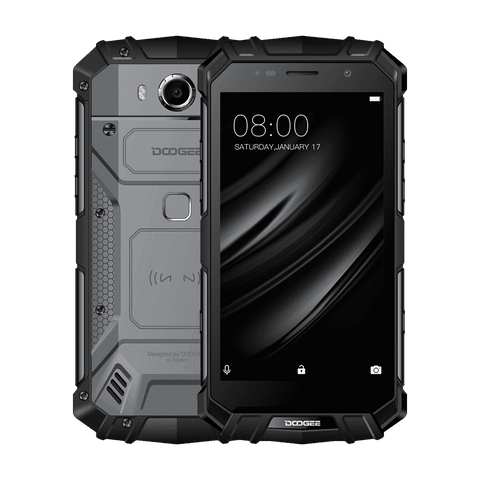 Rugged Phones - Doogee S60 ELITE Rugged Android 7.0 Smartphone - 6GB, 64GB, 21MP Cam, 5580mAh Bat, Octa-Core, Dual-Sim, Fast Charge