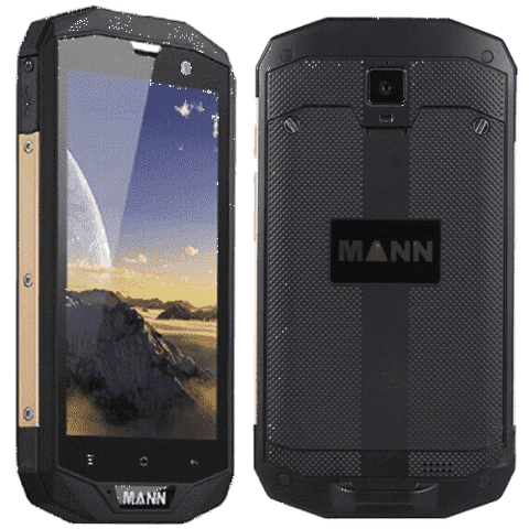 Rugged Phones - MANN ZUG 5S+ Rugged Phone - 5 Inch 1280x720 Screen, 4G, Qualcomm CPU, IP67 Waterproof Rating